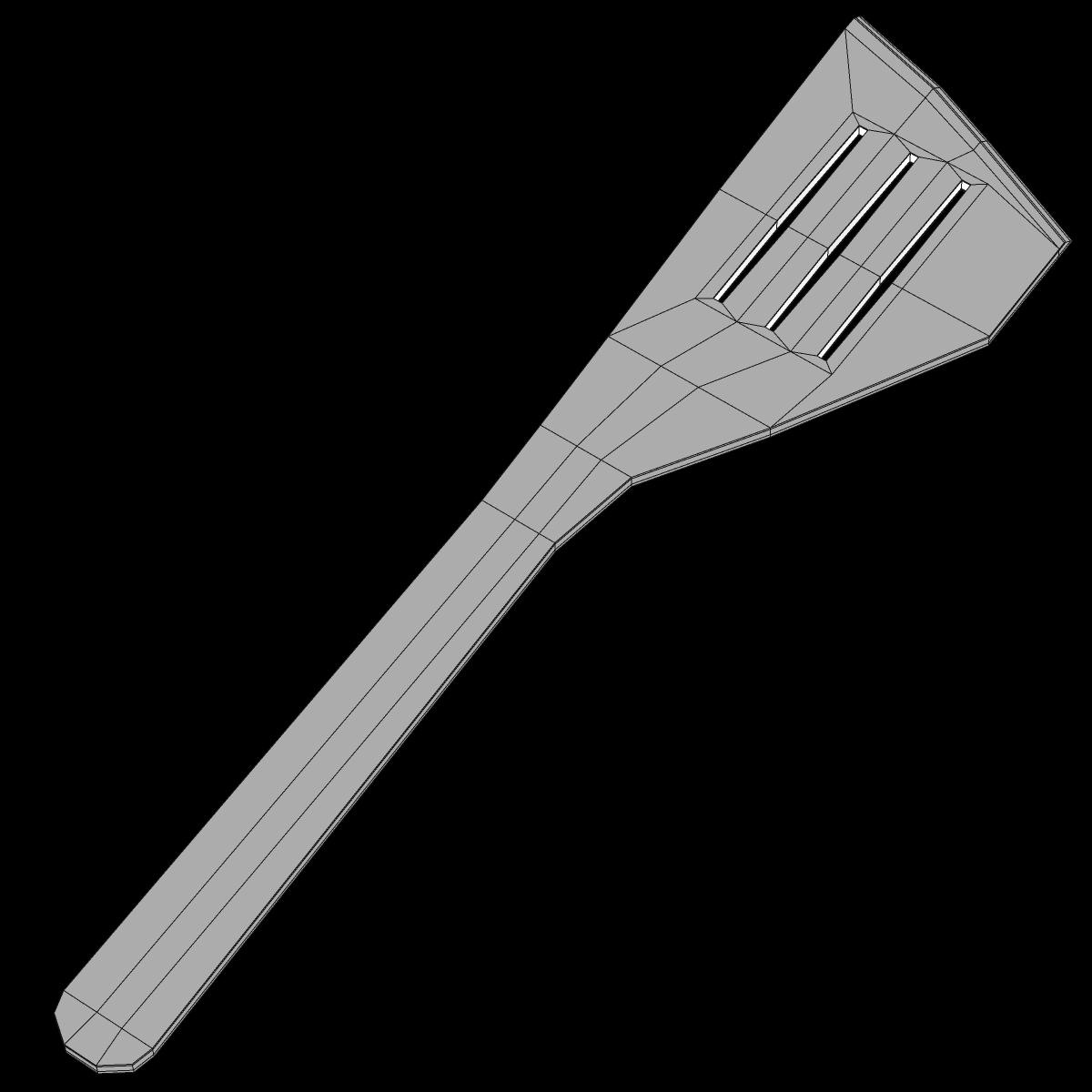 slotted spoon 3d model max fbx c4d ma mb obj 159280