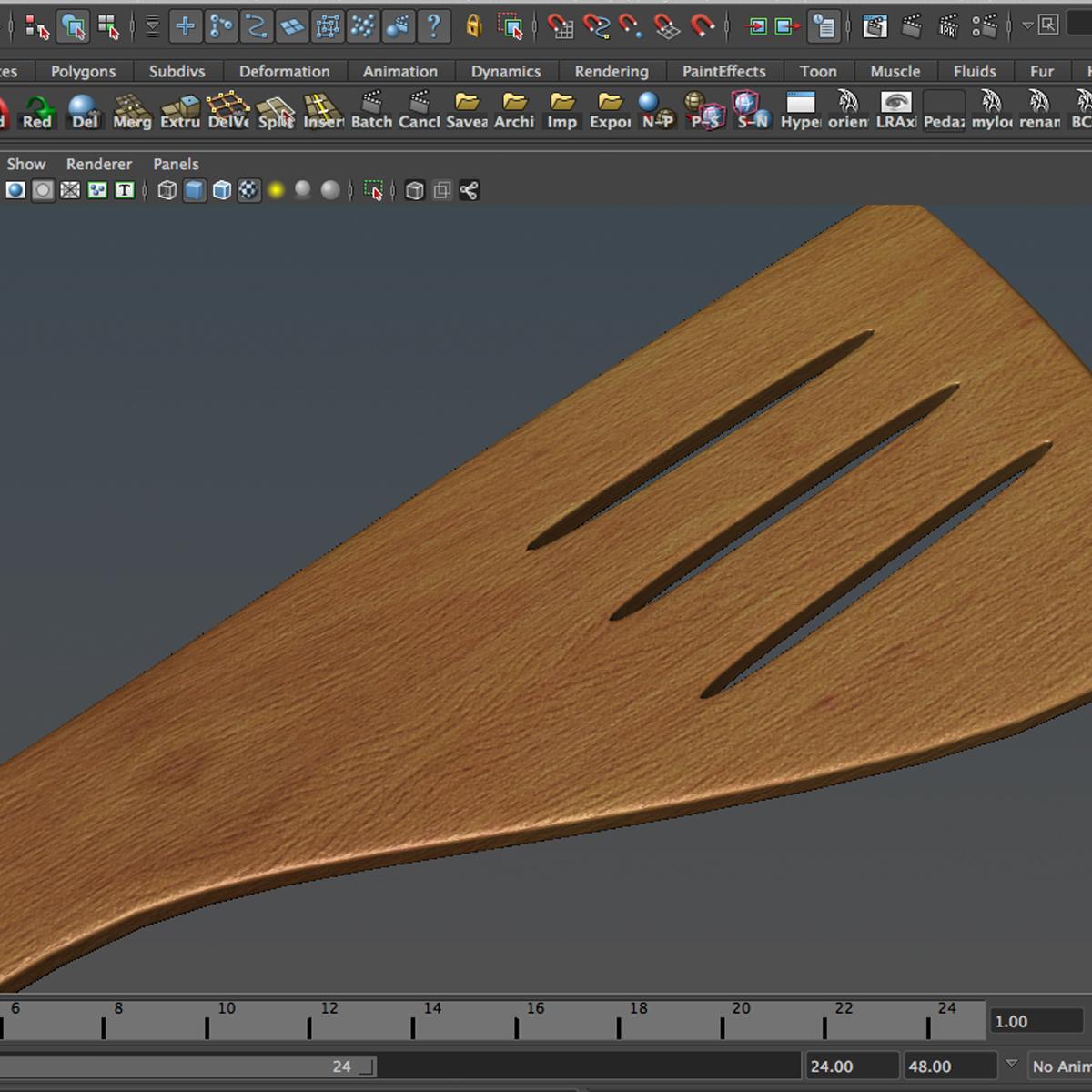 slotted spoon 3d model max fbx c4d ma mb obj 159287