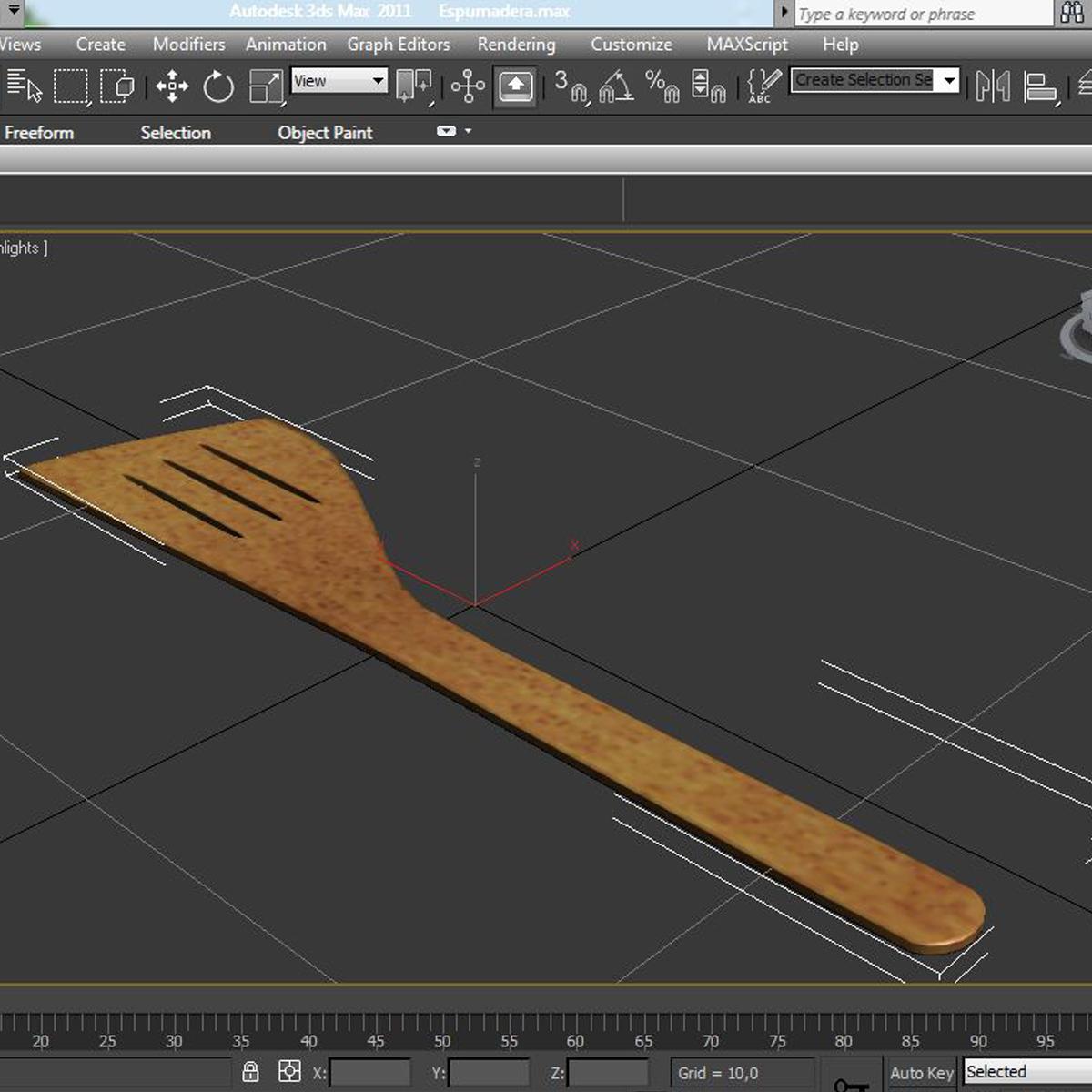 slotted spoon 3d model max fbx c4d ma mb obj 159288