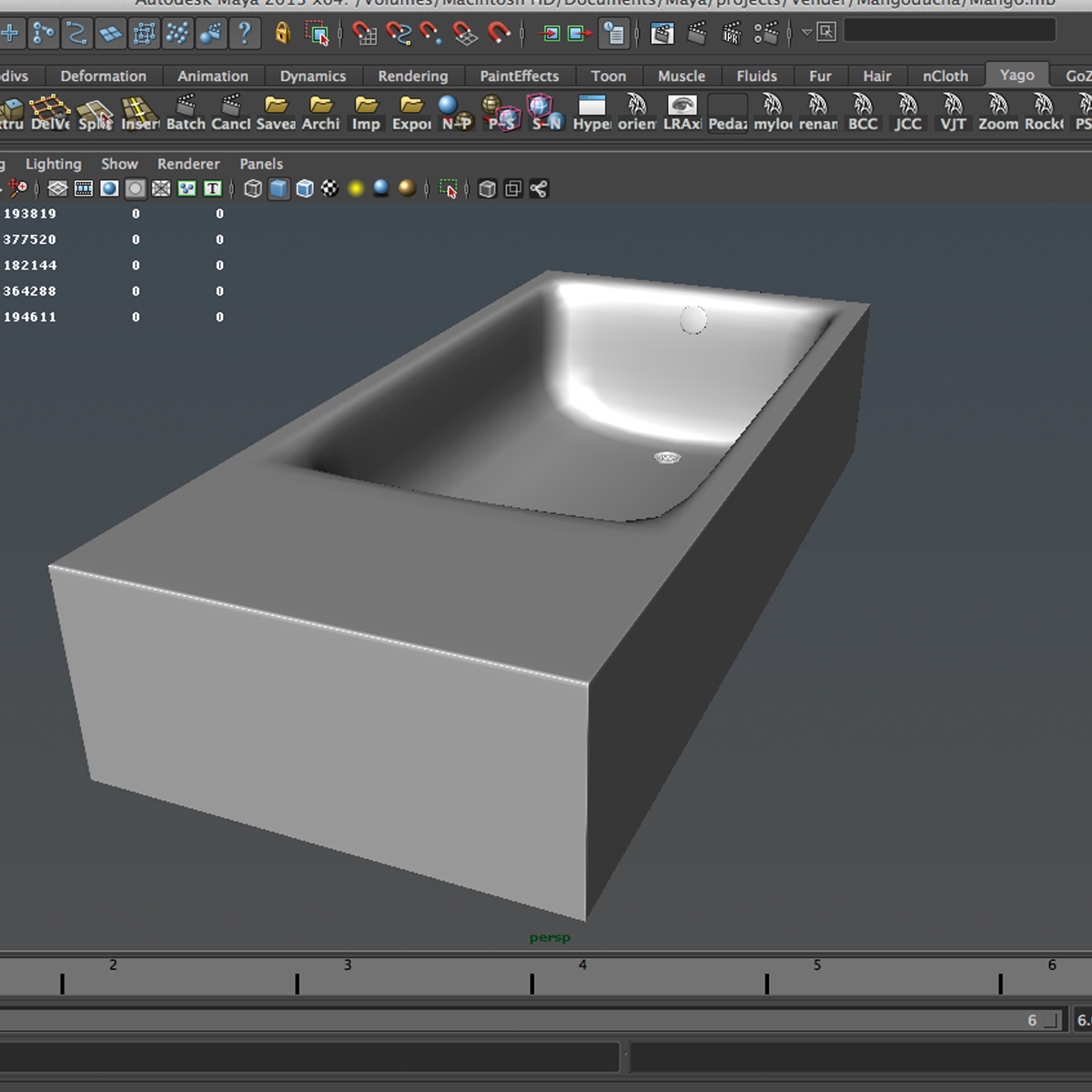 tub 3d model 3ds max fbx ma mb obj 158322
