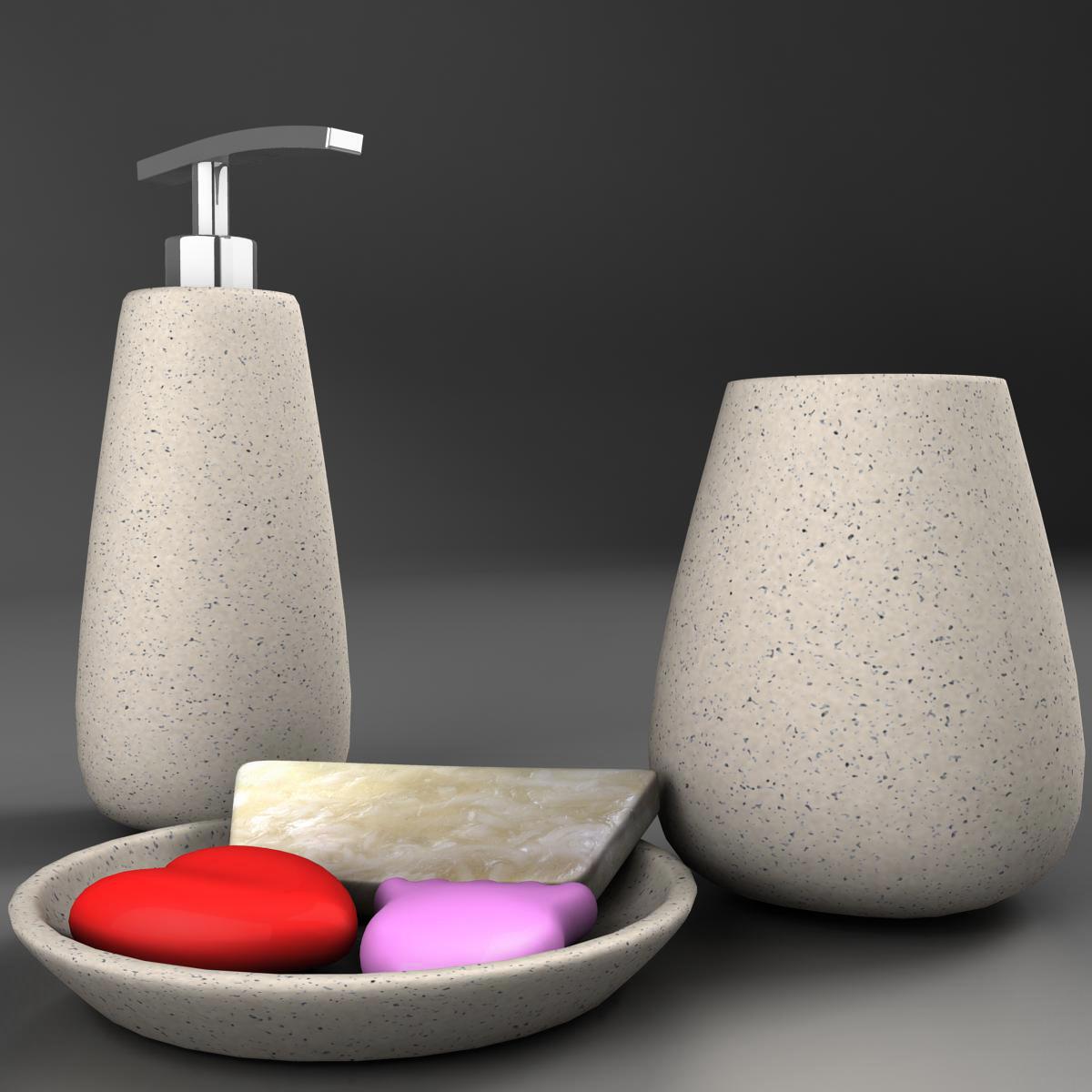 bath set 3d model 3ds max fbx ma mb obj 158112