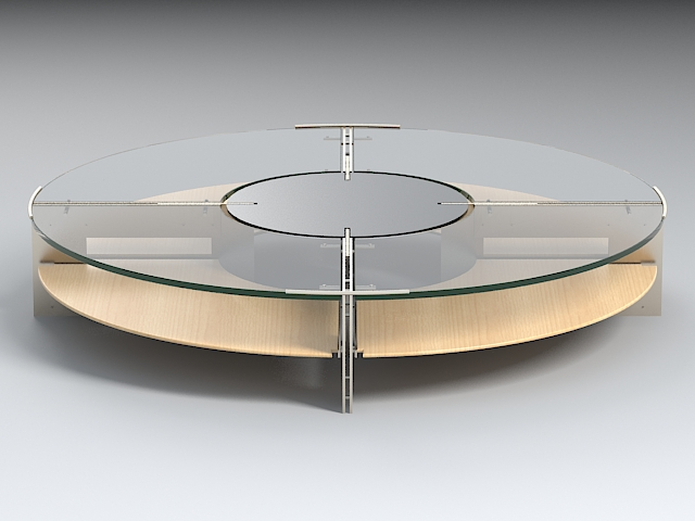 coffee table version 3 3d model 3ds max dxf fbx obj 114926