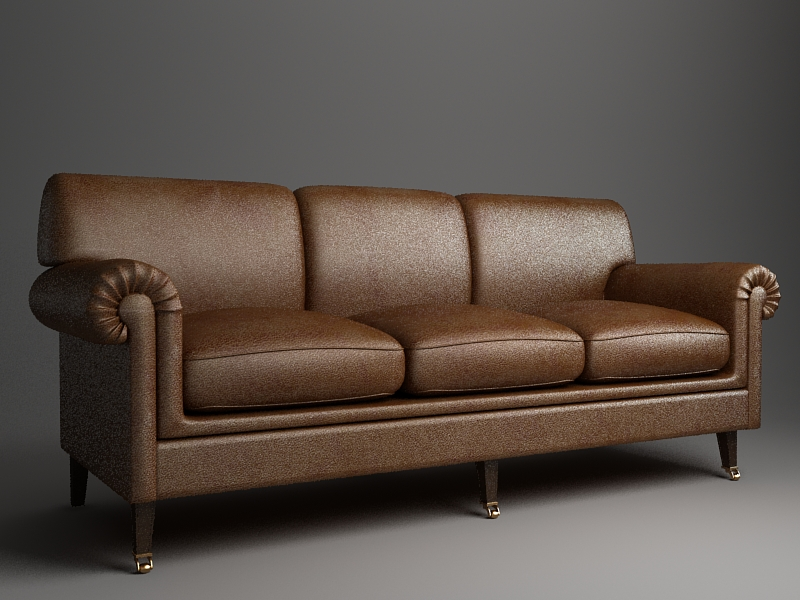 rolled arm sofa 3 3d model 3ds max fbx texture obj 114828