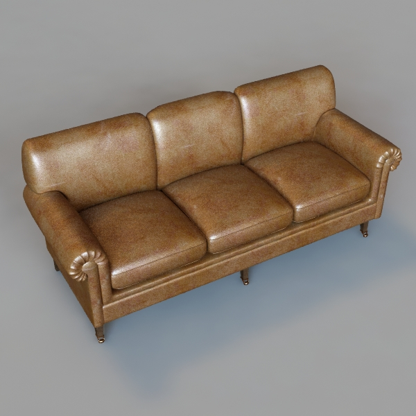 rolled arm sofa 3 3d model 3ds max fbx texture obj 114829