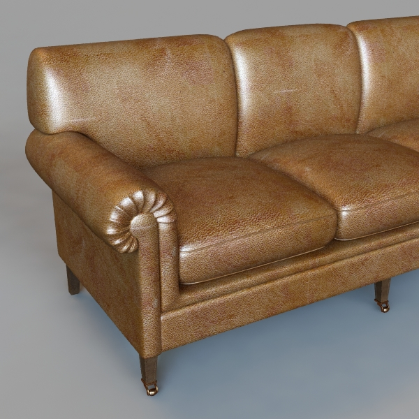 rolled arm sofa 3 3d model 3ds max fbx texture obj 114830