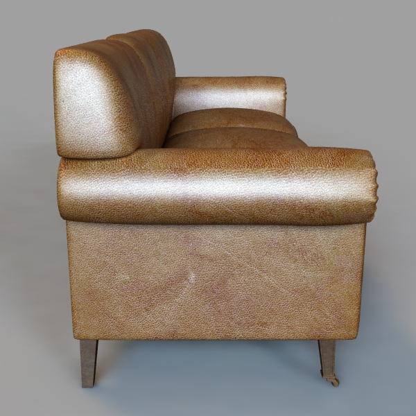rolled arm sofa 3 3d model 3ds max fbx texture obj 114831