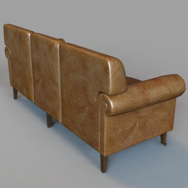 rolled arm sofa 3 3d model 3ds max fbx texture obj 114832
