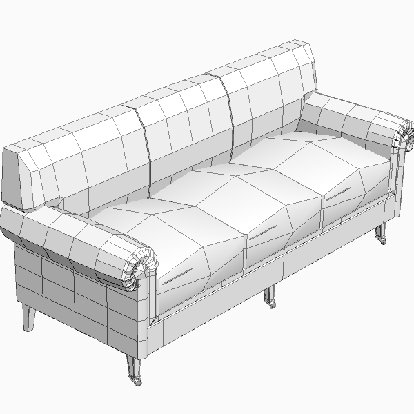 rolled arm sofa 3 3d model 3ds max fbx texture obj 114833