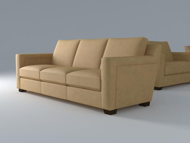 sofa 3 seat 3d model 3ds max dxf fbx jpeg jpg obj 115106