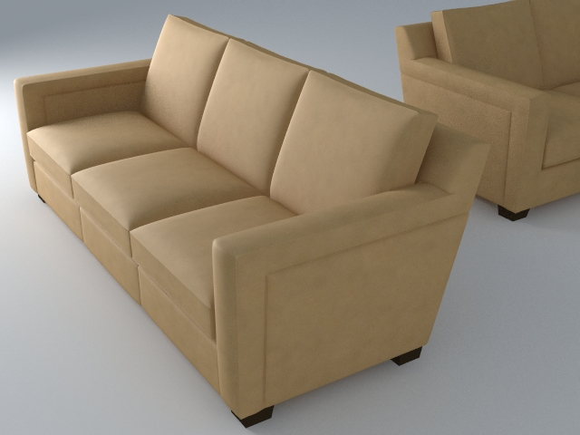 sofa 3 seat 3d model 3ds max dxf fbx jpeg jpg obj 115107