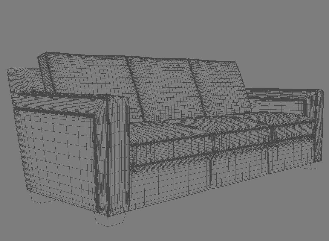 sofa 3 seat 3d model 3ds max dxf fbx jpeg jpg obj 115109