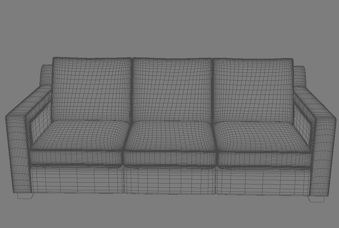 sofa 3 seat 3d model 3ds max dxf fbx jpeg jpg obj 115111