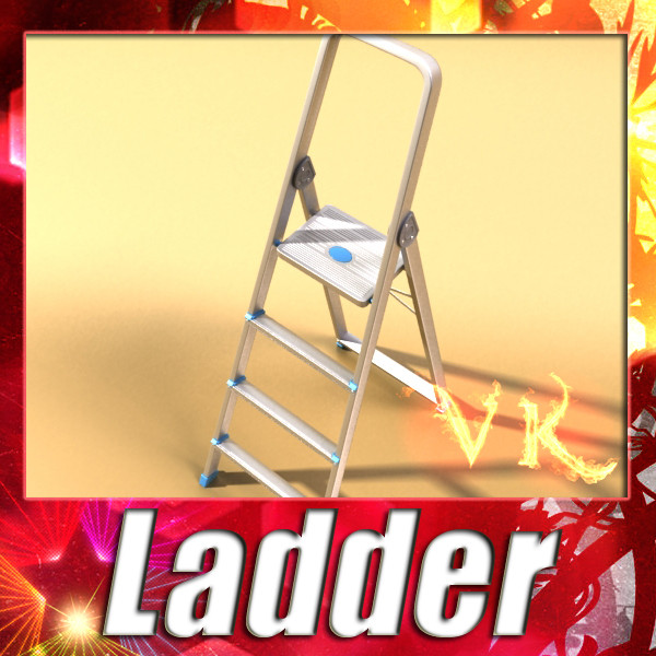 step ladder high detail 3d model max fbx obj 131551