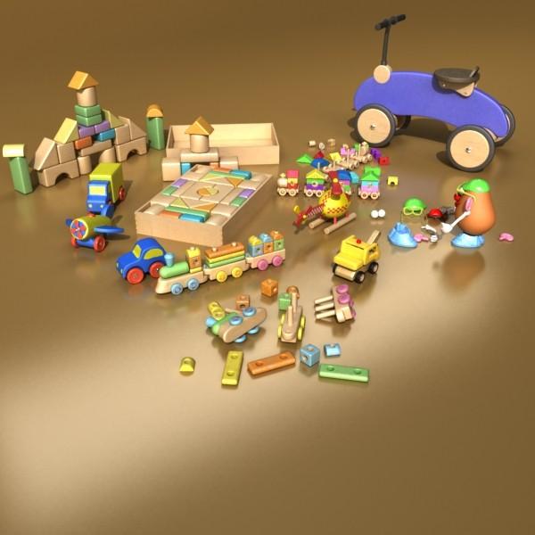 toys collection 10 items 3d model 3ds max fbx obj 131781