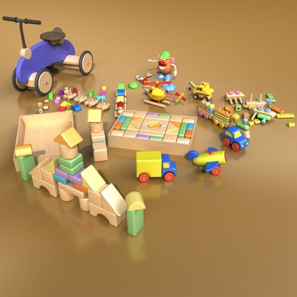 toys collection 10 items 3d model 3ds max fbx obj 131782