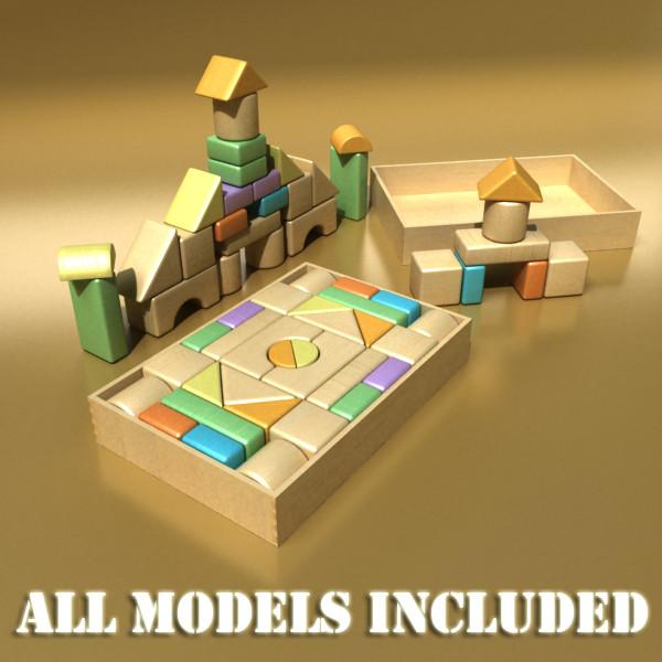 toys collection 10 items 3d model 3ds max fbx obj 131840