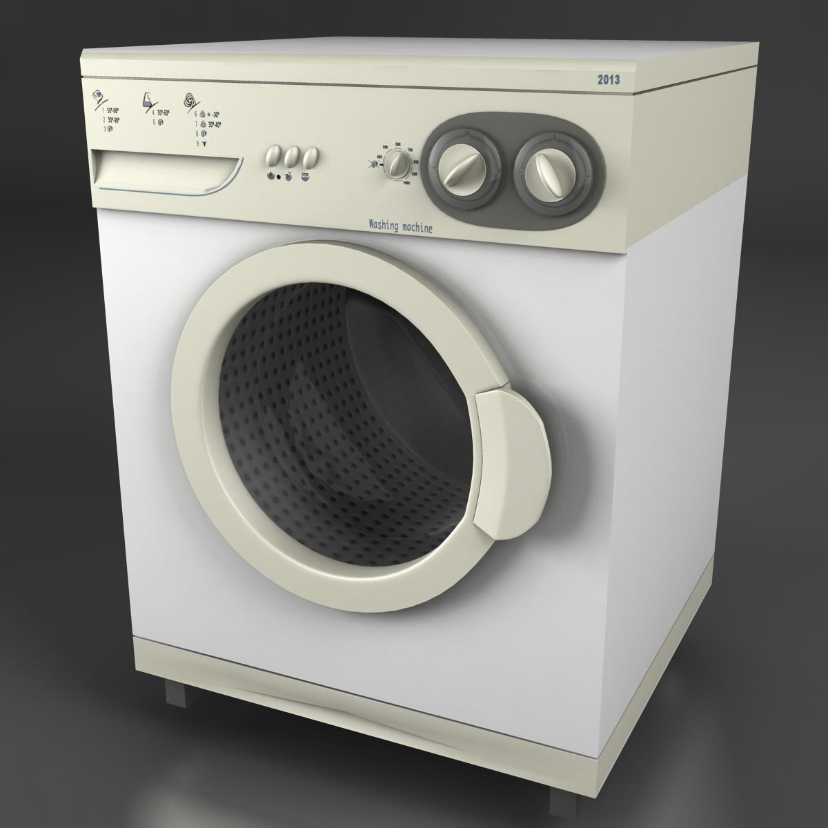 washermachine 3d model 3ds max fbx ma mb obj 158865