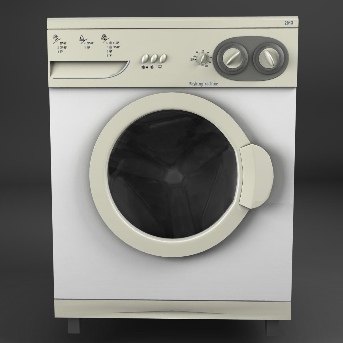washermachine 3d model 3ds max fbx ma mb obj 158866