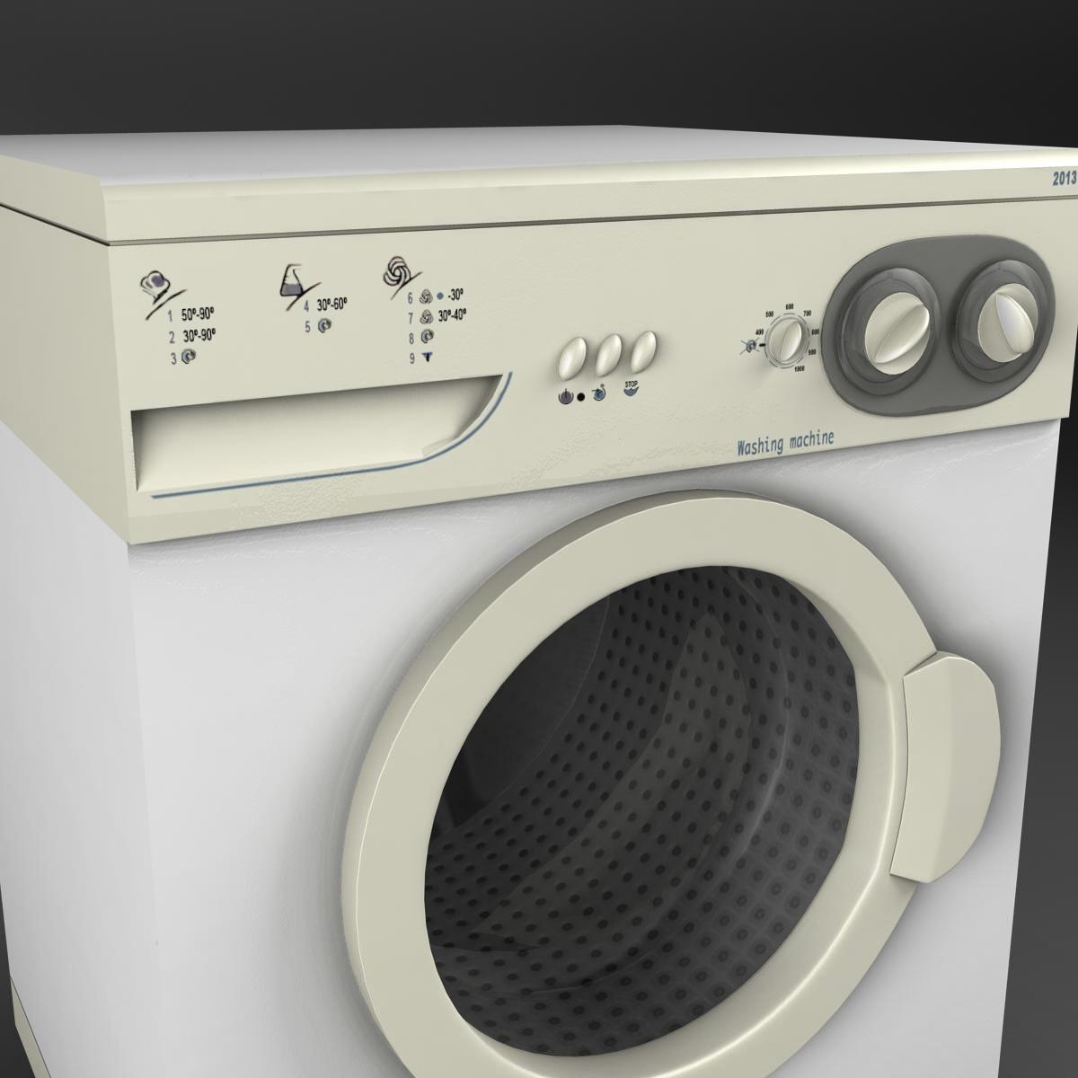 washermachine 3d model 3ds max fbx ma mb obj 158867
