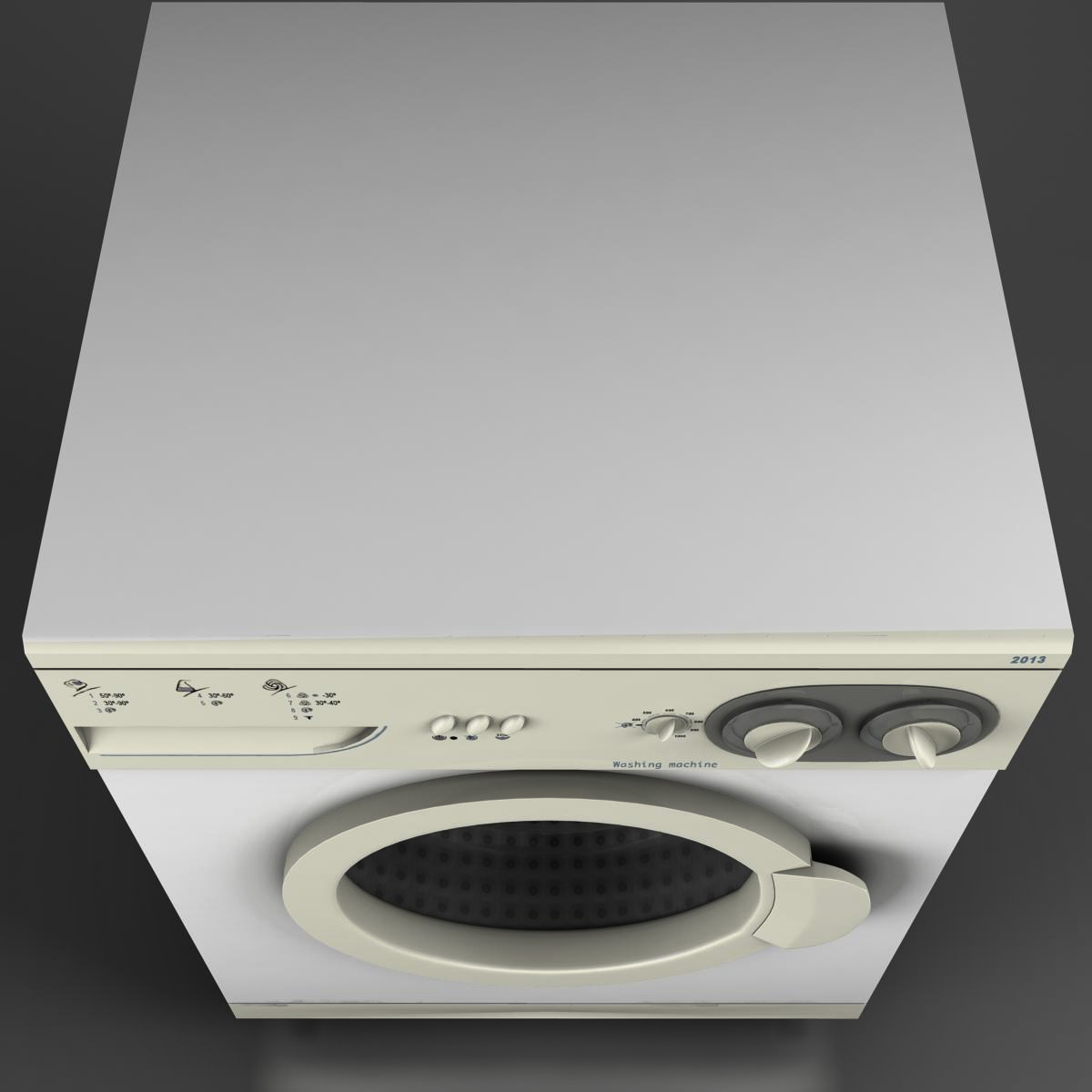 washermachine 3d model 3ds max fbx ma mb obj 158868