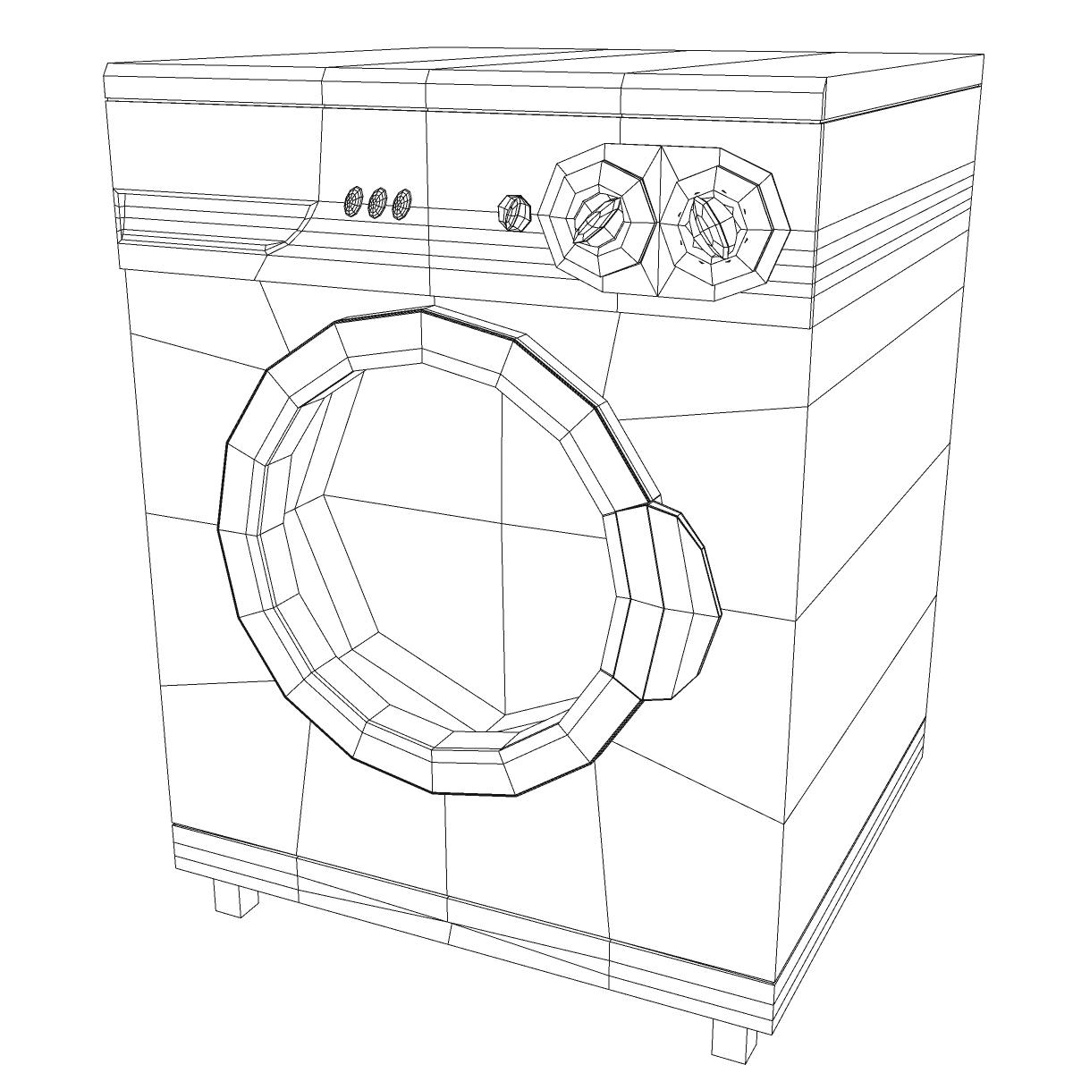washermachine 3d model 3ds max fbx ma mb obj 158871