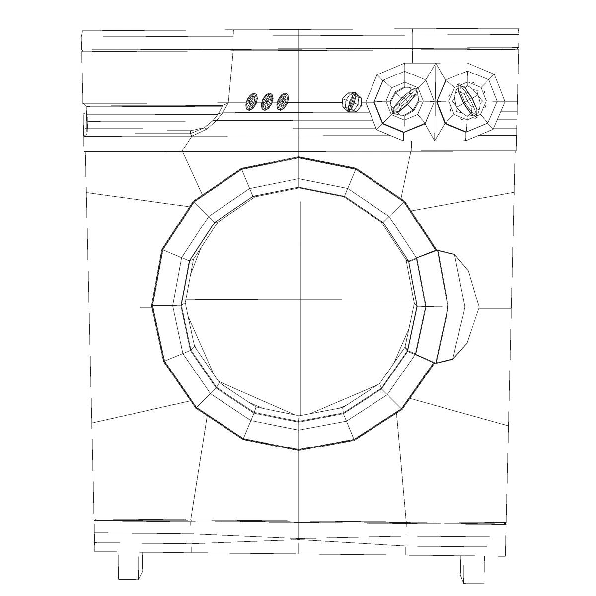 washermachine 3d model 3ds max fbx ma mb obj 158872