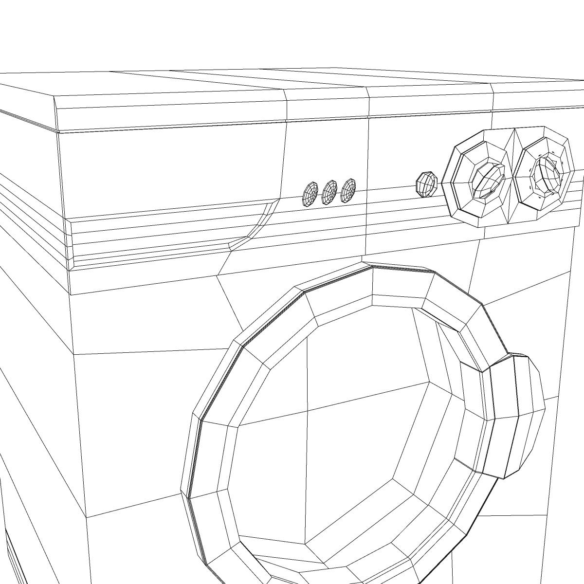 washermachine 3d model 3ds max fbx ma mb obj 158873