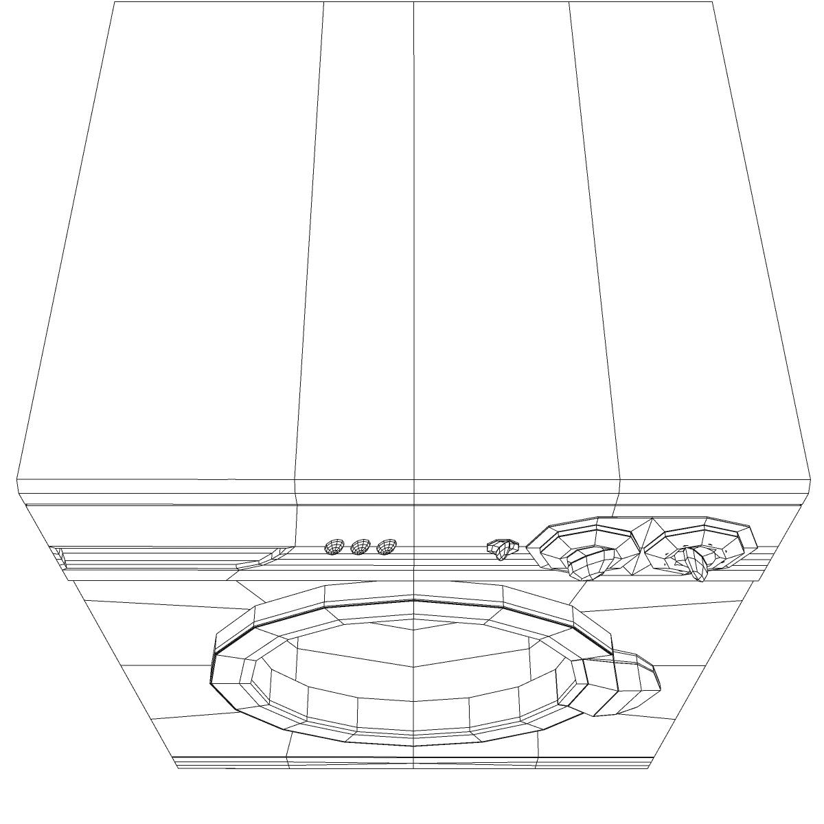 washermachine 3d model 3ds max fbx ma mb obj 158874