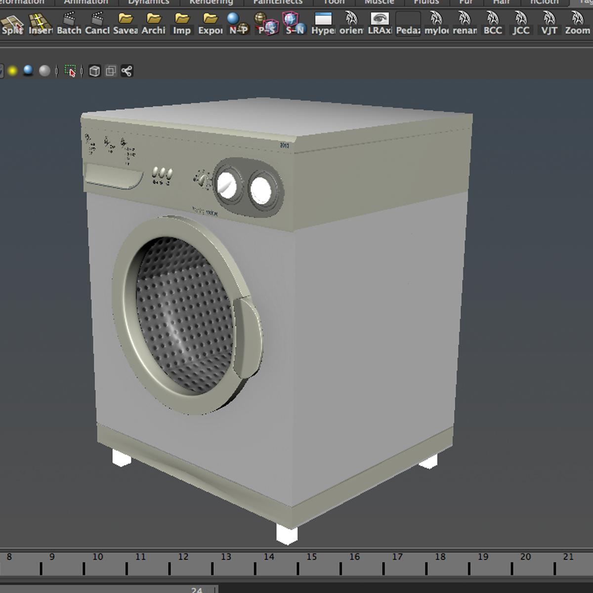 washermachine 3d model 3ds max fbx ma mb obj 158878