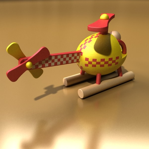 wooden toy helicopter 3d model 3ds max fbx obj 131775