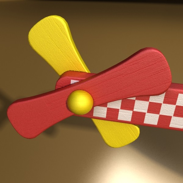 wooden toy helicopter 3d model 3ds max fbx obj 131777
