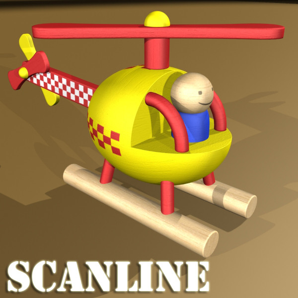 wooden toy helicopter 3d model 3ds max fbx obj 131779