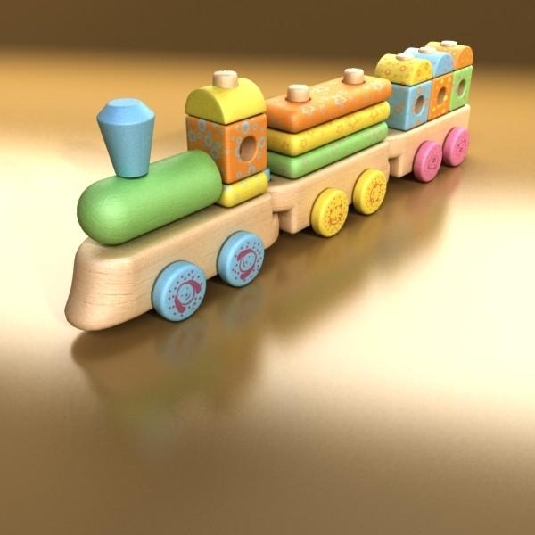 wooden toy train 3d model 3ds max fbx obj 131741