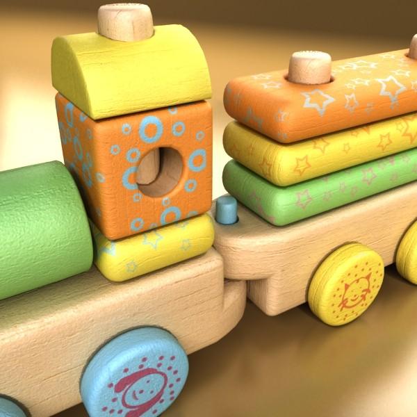 wooden toy train 3d model 3ds max fbx obj 131743