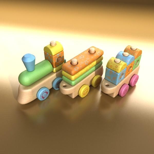 wooden toy train 3d model 3ds max fbx obj 131746