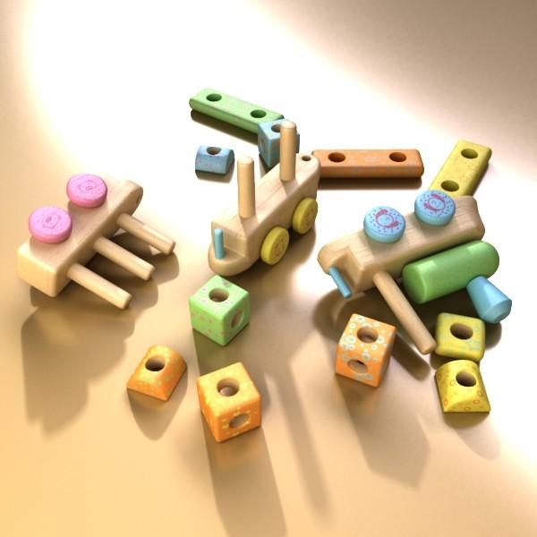 wooden toy train 3d model 3ds max fbx obj 131749