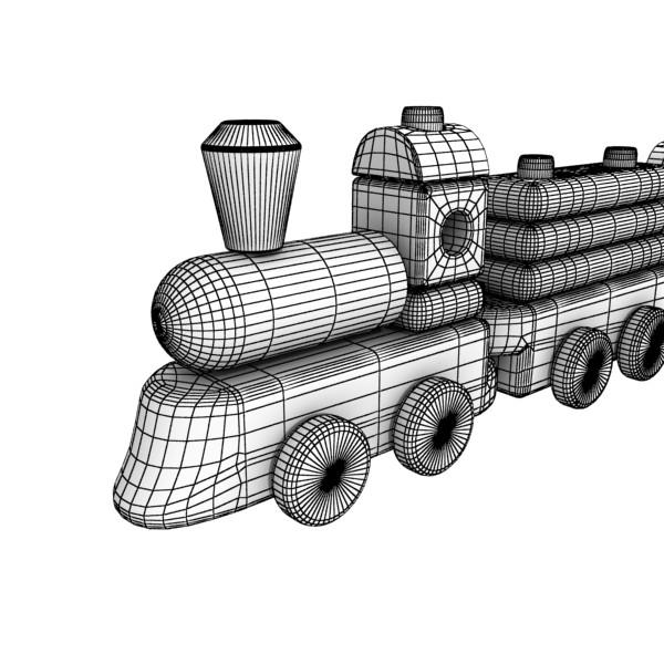 wooden toy train 3d model 3ds max fbx obj 131752