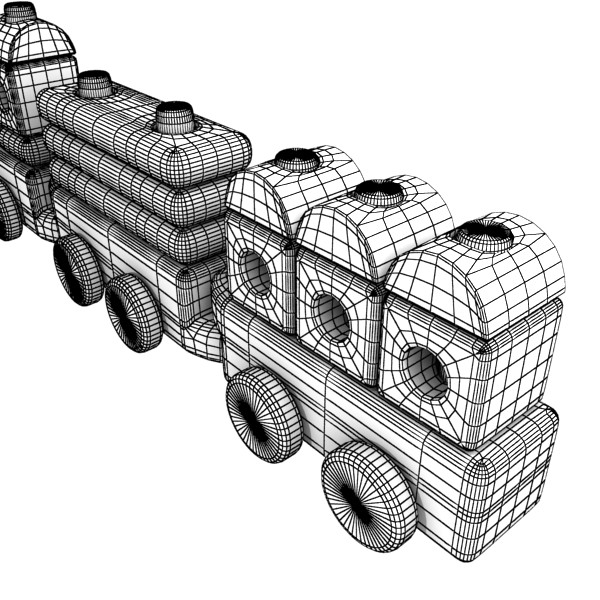 wooden toy train 3d model 3ds max fbx obj 131753