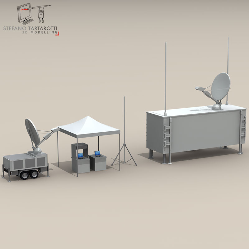 uav ground control stations 3d model 3ds fbx c4d obj 140182