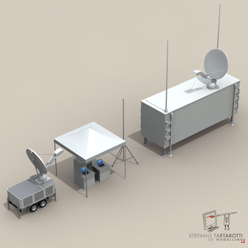 uav ground control stations 3d model 3ds fbx c4d obj 140183