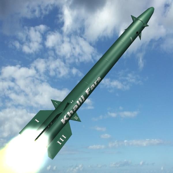 iranian khalij fars cruise missile 3d model 3ds dxf cob x obj 139092