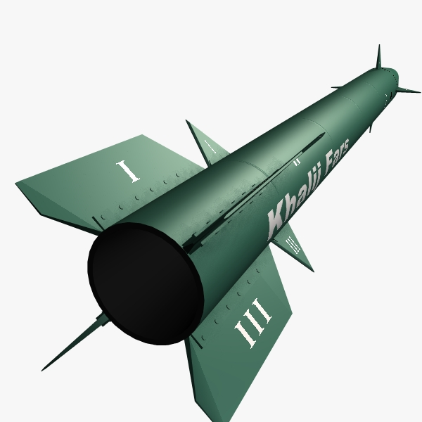 iranian khalij fars cruise missile 3d model 3ds dxf cob x obj 139093