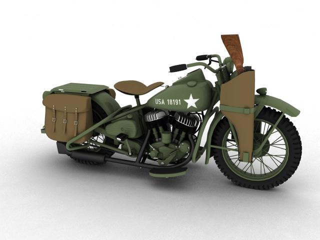 harley-davidson wla 1942 ww2 3d model 3ds max dxf fbx c4d obj 106370