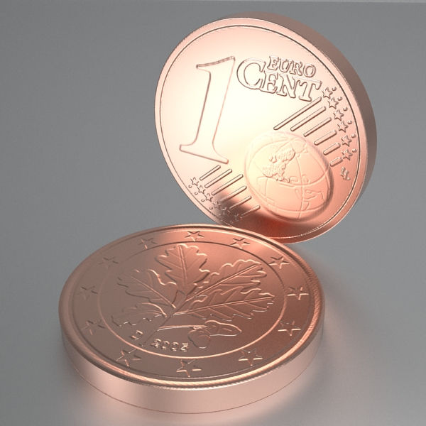 german euro coins 3d model 3ds fbx skp obj 119525
