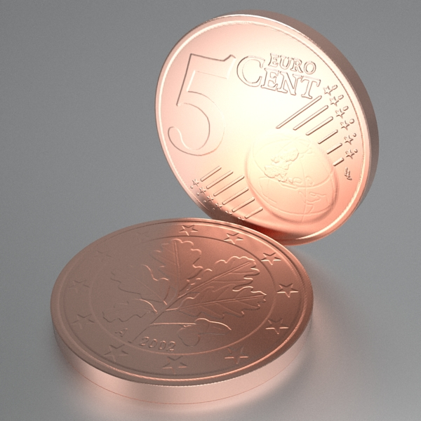 german euro coins 3d model 3ds fbx skp obj 119527