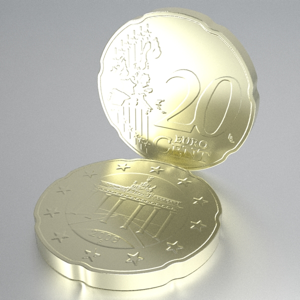 german euro coins 3d model 3ds fbx skp obj 119530