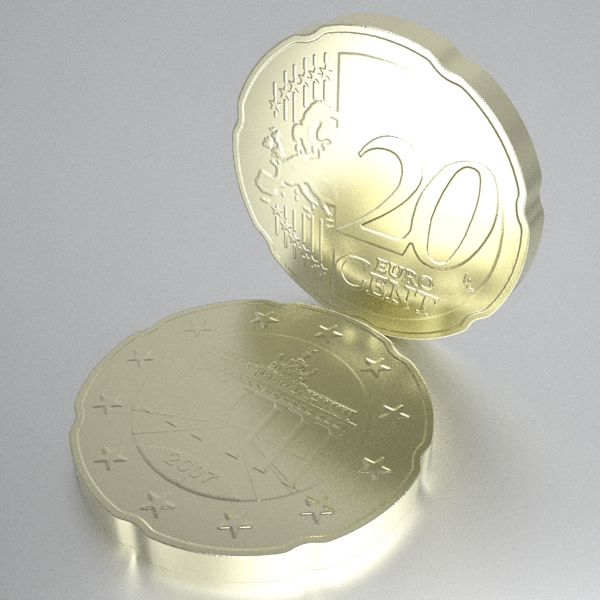 german euro coins 3d model 3ds fbx skp obj 119531
