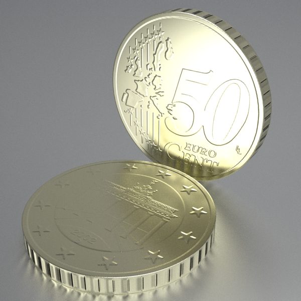 german euro coins 3d model 3ds fbx skp obj 119532
