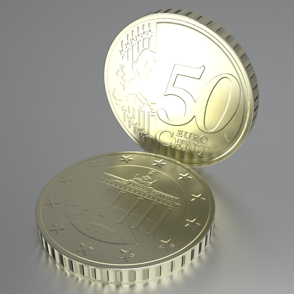 german euro coins 3d model 3ds fbx skp obj 119533
