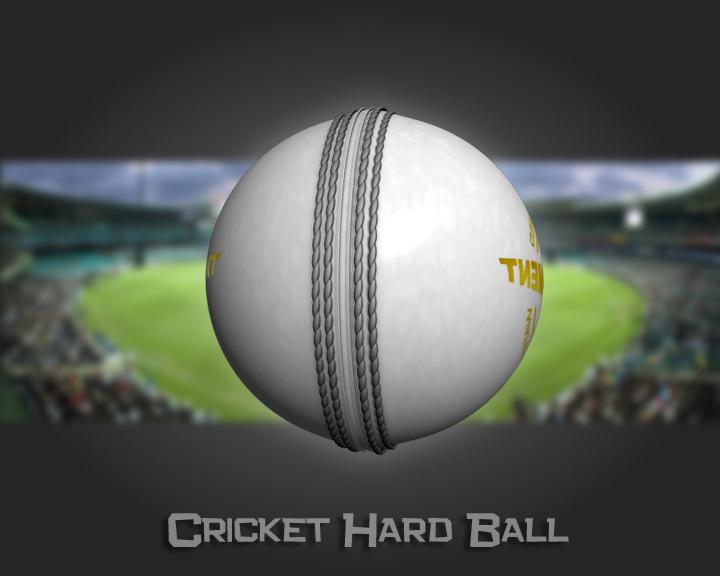 cricket hard ball 3d model 3ds max obj 115559